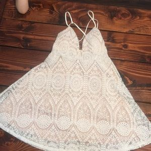 Yes and cup embroidered dress